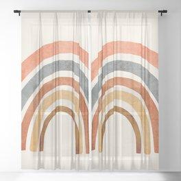 Abstract Rainbow 88 Sheer Curtain