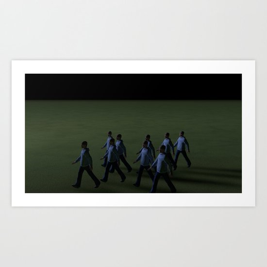 Boys_Series_n°2 Art Print