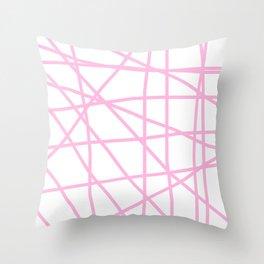 Doodle (Pink & White) Throw Pillow