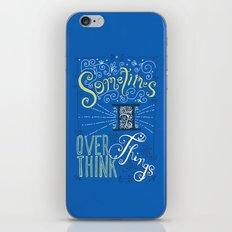 Overthinking iPhone & iPod Skin