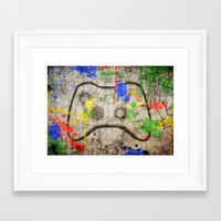 xbox Framed Art Prints featuring Controller Graffitti XBOX by AngoldArts