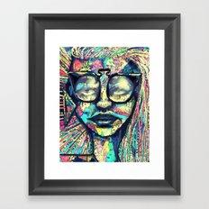 Narley to the Retro Framed Art Print
