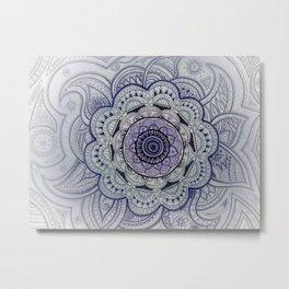 Mandala Violet Metal Print