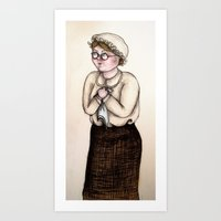 nurse Art Prints featuring Nurse by CokecinL