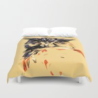 owl Duvet Covers featuring Owl by Nuam