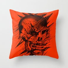 Skull's Not Dead Throw Pillow
