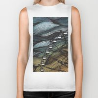 ferris wheel Biker Tanks featuring Ferris Wheel by Juliana Caju