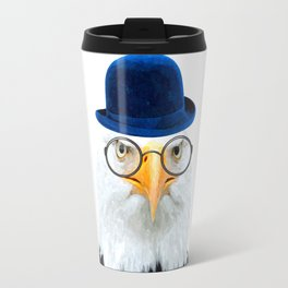 Funny Eagle Portrait Travel Mug
