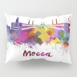Mecca skyline in watercolor Pillow Sham