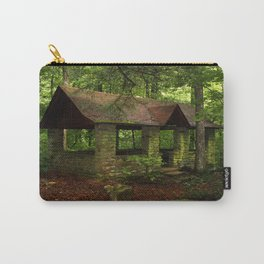 Green Stone Building Color Photo Carry-All Pouch