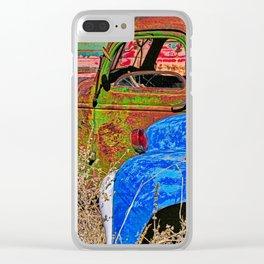 Car junkyard Clear iPhone Case