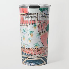 Cane Chair in Pink Interior Travel Mug