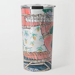 Cane Chair in Pink Interior Travel Mug