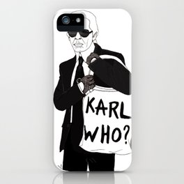 Karl iPhone Case