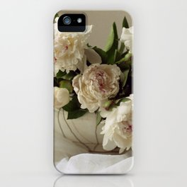 Garden peonies for Justine - wedding bouquet photography iPhone Case