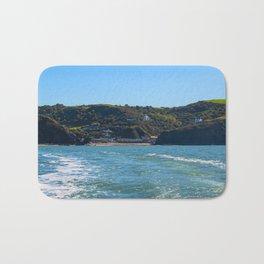 Llangrannog from The sea. Bath Mat