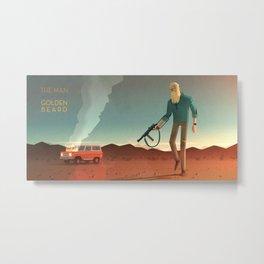 The Man with the Golden Beard Metal Print