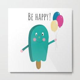 Happy icecream Metal Print