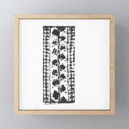 Crochet Impressions: LEAVES Framed Mini Art Print