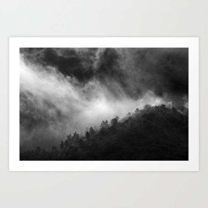 """Memories..."" Into the woods. Foggy sunrise Art Print"