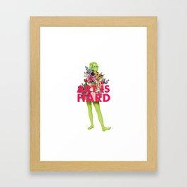 Art Is Hard - Flower Girl Framed Art Print