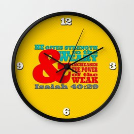 Strength to the Weary Wall Clock