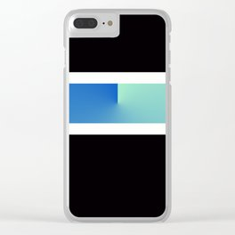 Team Colors 3...blue, aqua Clear iPhone Case