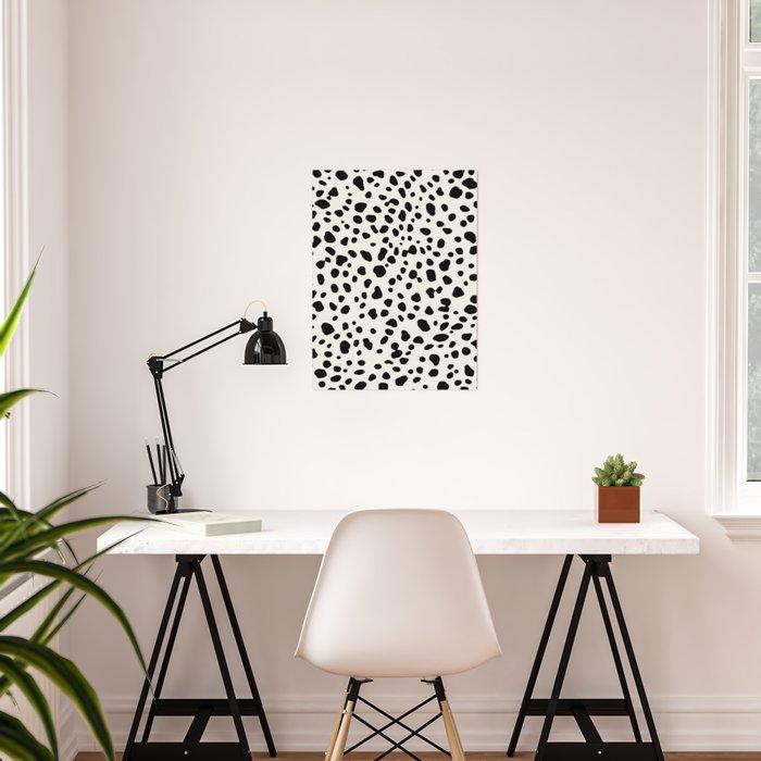Polka Dots Dalmatian Spots Poster