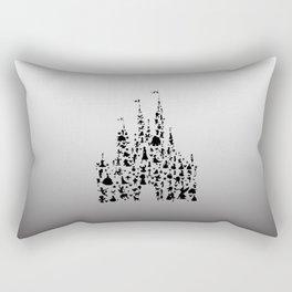 grey to white ombre castle Rectangular Pillow