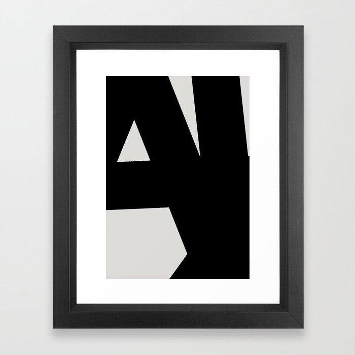Abstract Form 01 Framed Art Print
