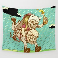anarchy Wall Tapestries featuring Anarchy Time by Beery Method