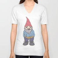 gnome V-neck T-shirts featuring Gnome Sayin?  by Aubree Eisenwinter