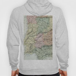Spain and Portugal Vintage Map Hoody