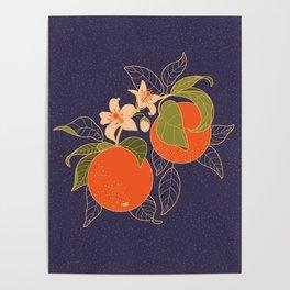 Orange Branch Poster