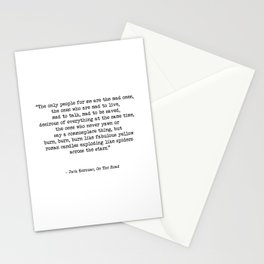 Mad To Live, Motivational Life Quote By Jack Kerouac, On The Road, Creativity Quotes Stationery Cards