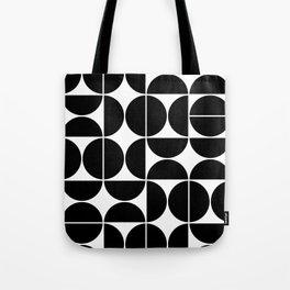 Mid Century Modern Geometric 04 Black Tote Bag