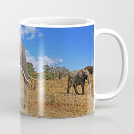 Walking elephants - Africa wildlife Coffee Mug