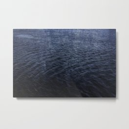 Cold Blue Waters of Little Lake Metal Print