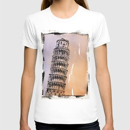 Cathedral of Pisa- better known as the Leaning Tower of Pisa T-shirt