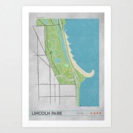 Parks of Chicago: Lincoln Park Art Print