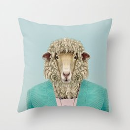 sexy lady sheep Throw Pillow