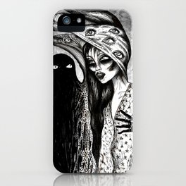 Dialogue With A Demon iPhone Case
