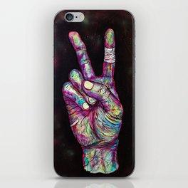 Powerful peace iPhone Skin