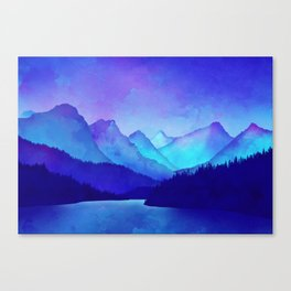 Cerulean Blue Mountains Canvas Print