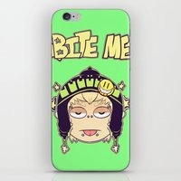 dmmd iPhone & iPod Skins featuring Bite Me by zamii070