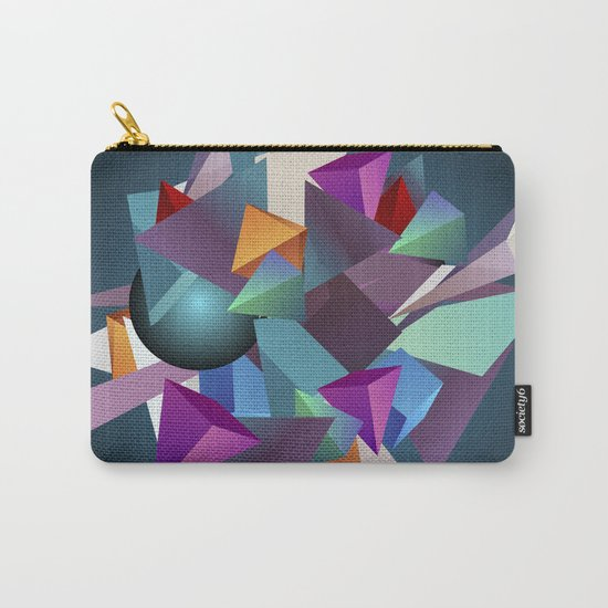 3D Geometric Carry-All Pouch