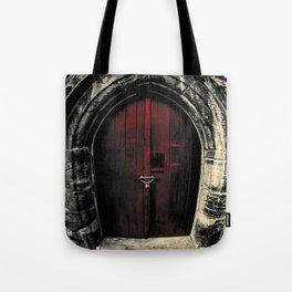 Door to Darkened Pasts Tote Bag