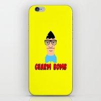 tina crespo iPhone & iPod Skins featuring Charm Bomb  |  Tina Belcher  by Silvio Ledbetter