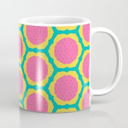 Abstract Pink and Yellow Pitaya Fruit Pattern Coffee Mug