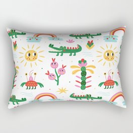 Crocodiles with happy smiles Rectangular Pillow